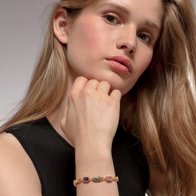 Bracelet porte-bonheur en pierres colorées Thomas Sabo